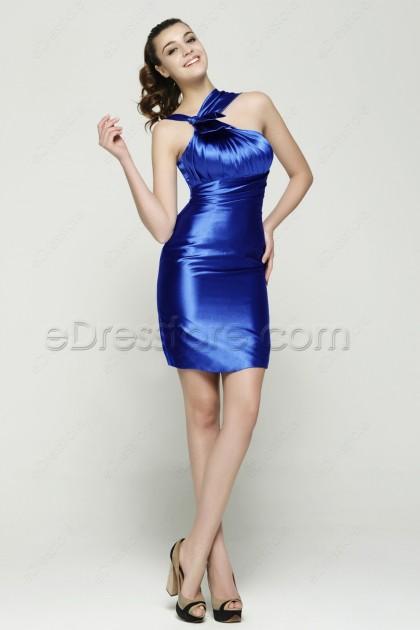 Royal Blue Sheath Cocktail Dresses