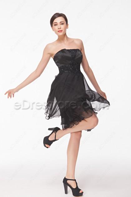 Strapless Little Black Dresses Homecoming Dresses