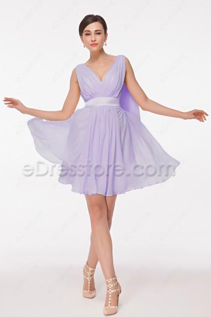 Elegant Lavender Short Homecoming Dress