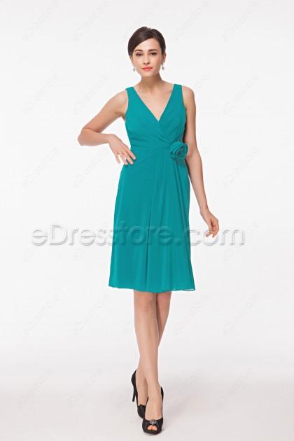 Turquoise Bridesmaid Dresses Knee Length