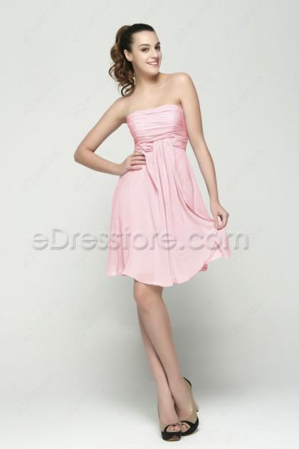Light Pink Short Prom Dresses