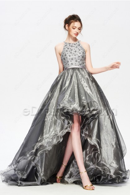 Silver High Low Prom Dresses