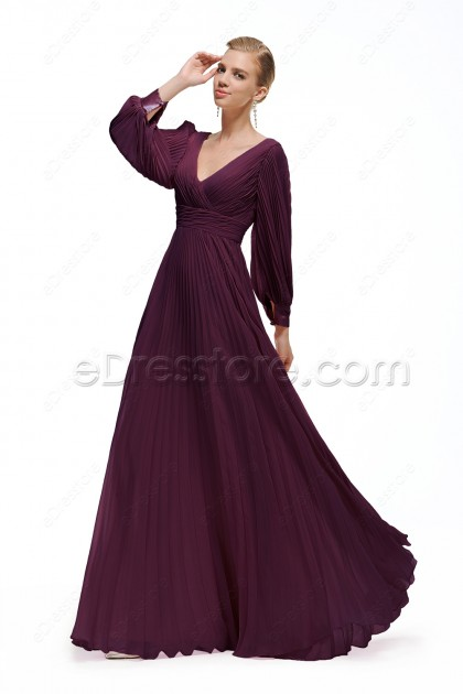 Plus size eggplant formal dress