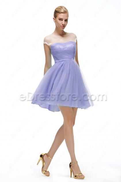 Lavender short homecoming dresses under 100