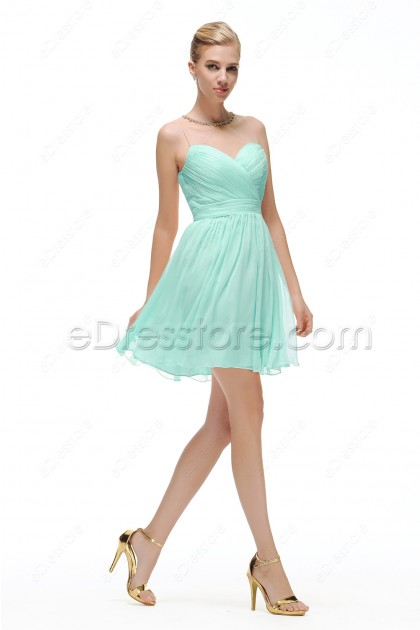 Mint Green Homecoming Dresses Short Prom Dress