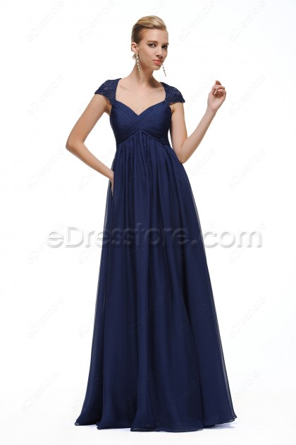 Navy Blue Maternity Formal Dresses Pregnant Wedding Guest