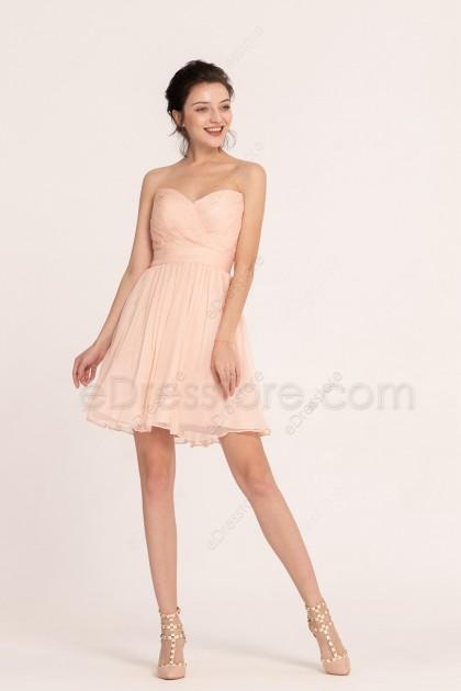 Peach Homecoming Dresses Short Prom Dresses