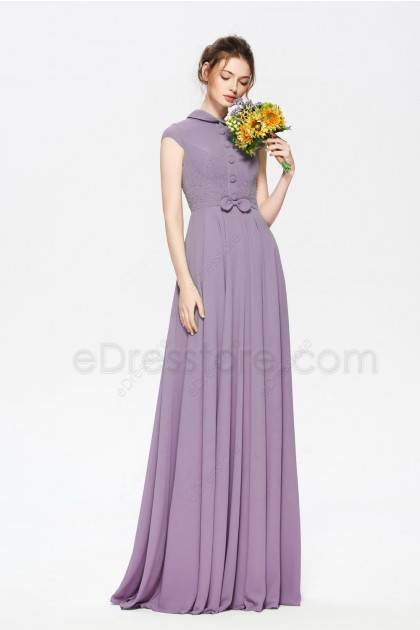 Wisteria Mother of the Bride Dress Modest