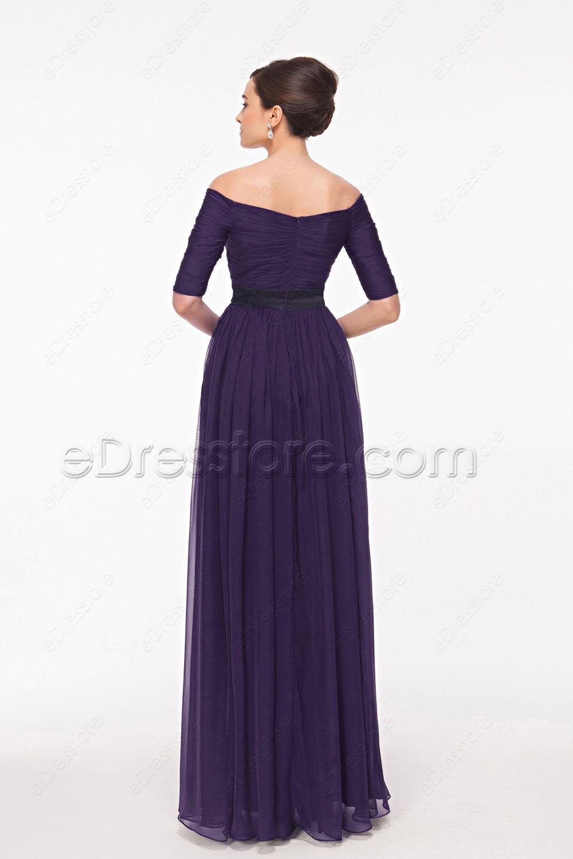 Mother Of The Bride Dresses Dark Purple 116