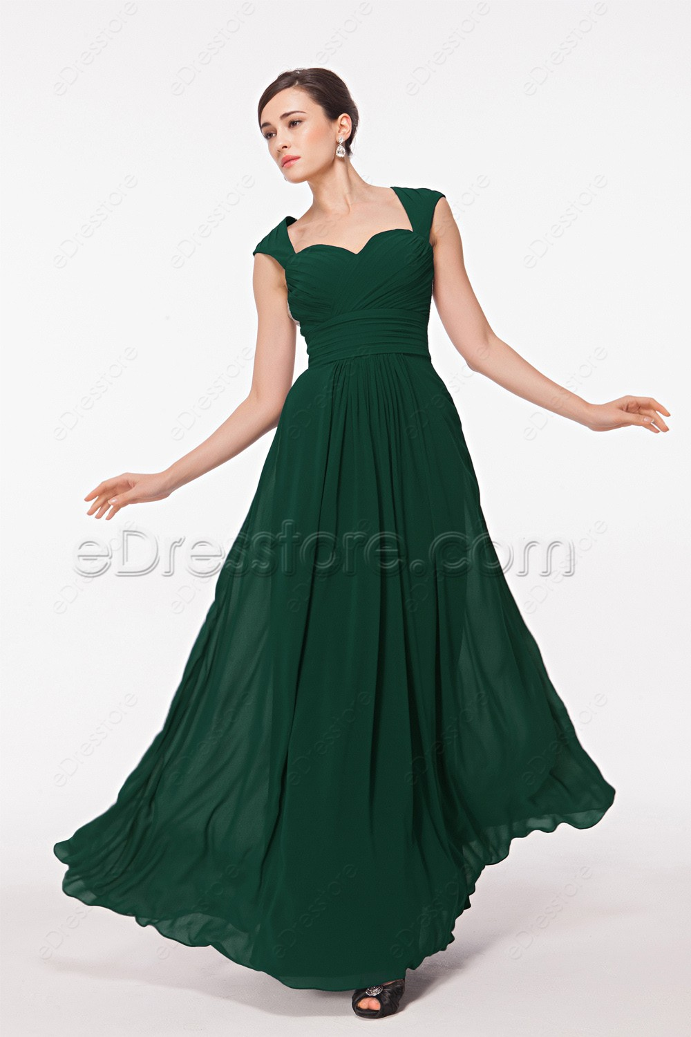 Backless forest green prom dresses long for Forest green wedding dress