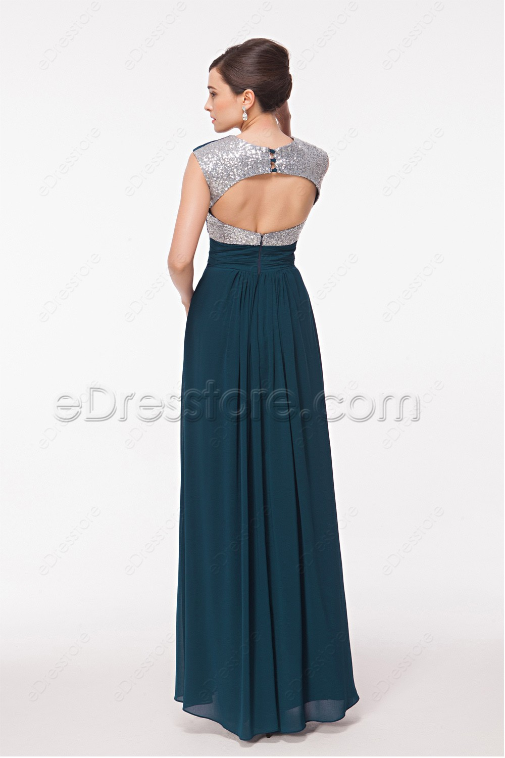 Sweetheart Backless Teal Bridesmaid Dresses Maid Of Honor