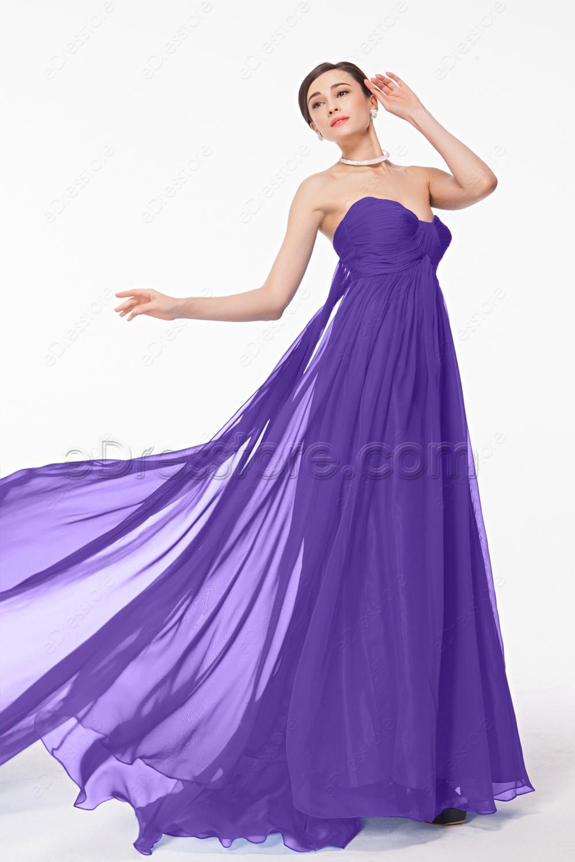 Sweetheart Lavender Long Pregnant Bridesmaid Dresses Maid