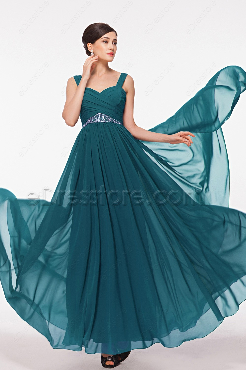 Teal maid of honor dresses bridesmaid dresses for Maid of honor wedding dresses