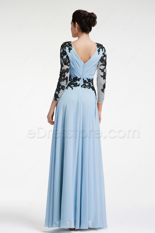 Mother Of The Bride Dresses Light Blue - Wedding Dresses Asian