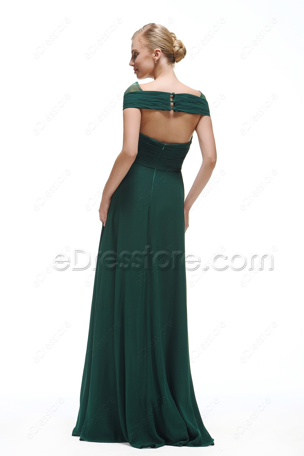 Cap sleeves forest green bridesmaid dresses long ombrellifo Choice Image