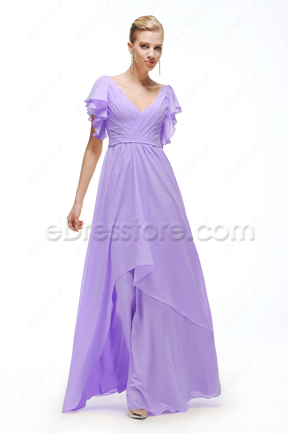 Plus Size Lavender Cocktail Dresses - Prom Dresses Vicky