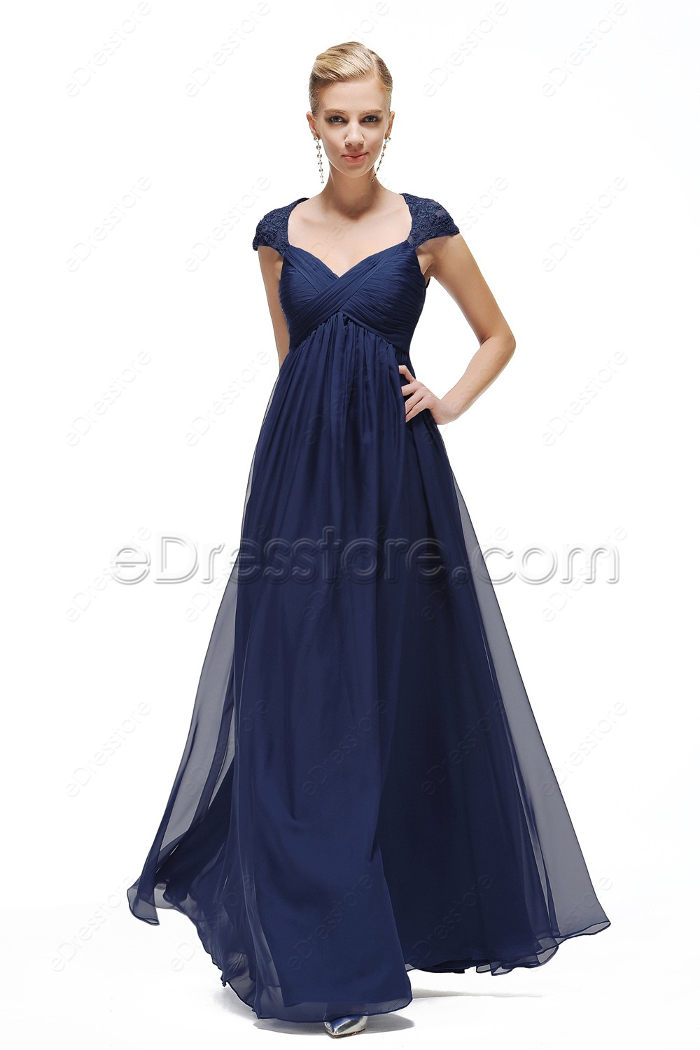Navy blue maternity formal dresses pregnant wedding guest for Wedding guest pregnancy dresses