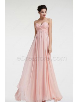 Sweetheart Peach Maternity Bridesmaid Dresses