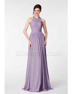 Halter Wisteria Long Prom Dresses