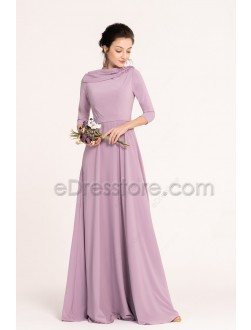 Wisteria Modest Bridesmaid Dresses 3/4 Sleeves